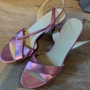 Metallic pink Burberry shoes